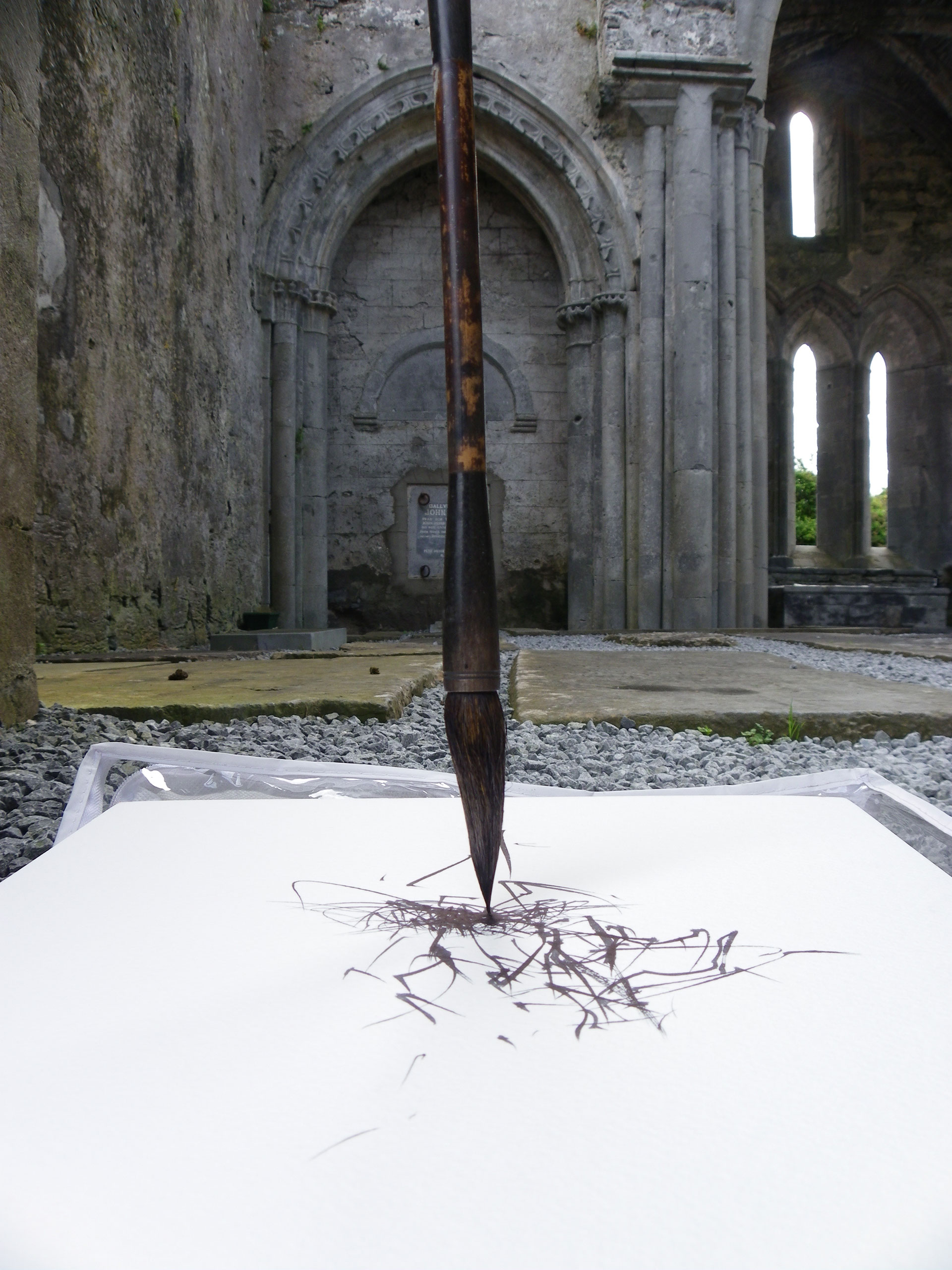 Wind Drawing In Corcomore Abbey, Ireland